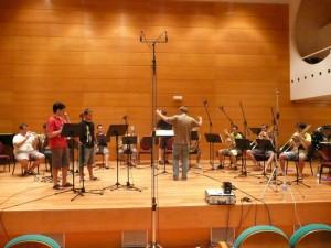 Primera grabacion del Ensemble A de la Brass Academy Alicante