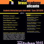 SMALL Poster Brass Academy Alicante 2015-2016